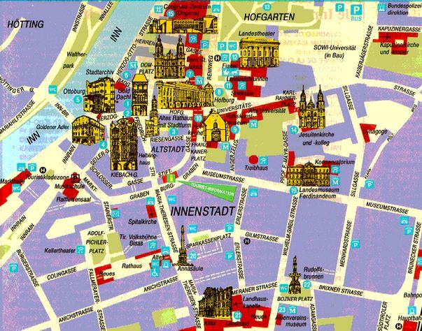 mapa de viena com pontos turisticos Innsbruck – Áustria   Fast Pass Viagens mapa de viena com pontos turisticos